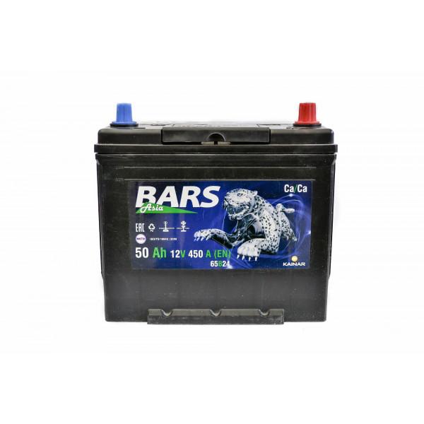 АКБ 6СТ-50 R+ (пт 450)(не обслуж)(азия) BARS