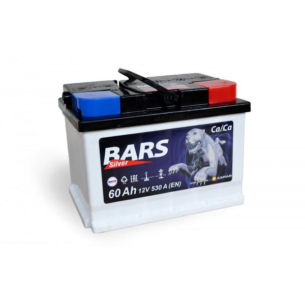 АКБ 6СТ-60 R+ (пт 530) BARS