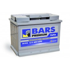 АКБ 6СТ-64 R+ (пт 620)(не обслуж) Premium BARS