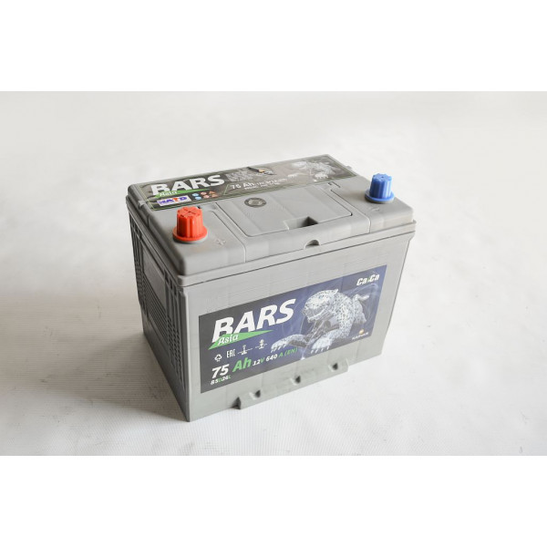 АКБ 6СТ-75 L+ (пт 640)(не обслуж) (азия) BARS