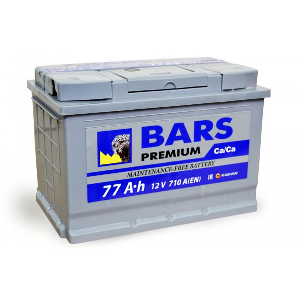 АКБ 6СТ-77 R+ (пт 710)(не обслуж) Premium BARS