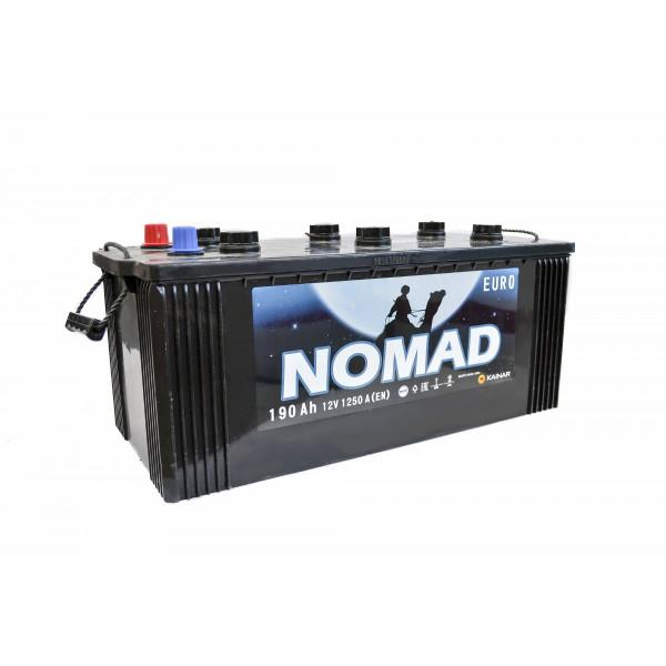 АКБ 6СТ-190 Тип3 (плоский конус)(пт 1250)(евро) NOMAD