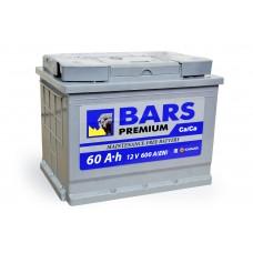 АКБ 6СТ-60 R+ (пт 600) (не обслуж) Premium BARS