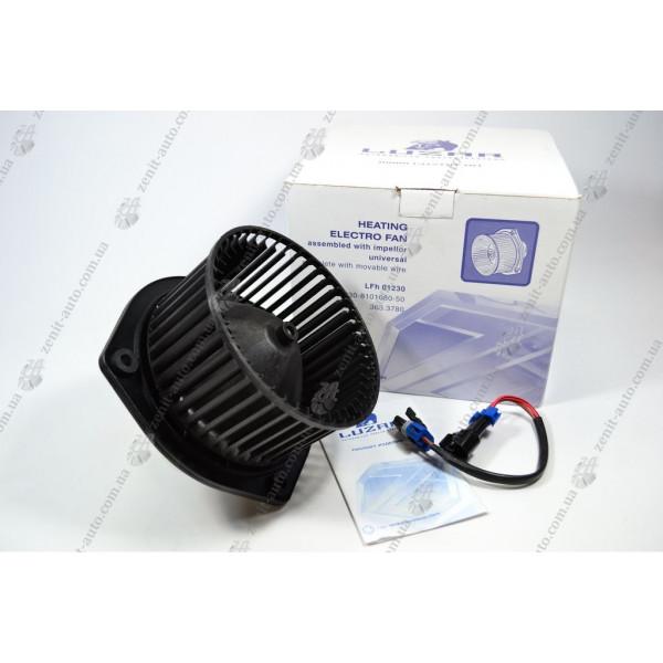 Вентилятор отопителя 1118 /2110/2123/2170 (cъемный провод) Luzar