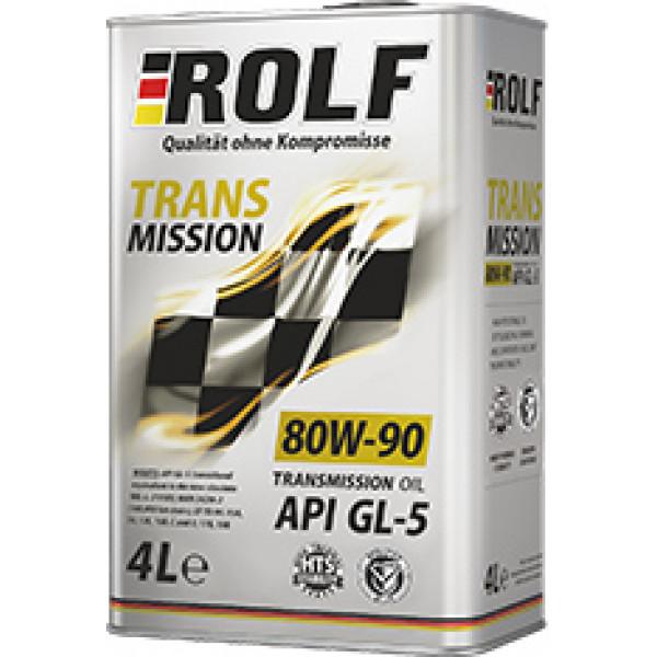 Масло трансмисс. 80W-90 ROLF Transmission GL-5,   4л, минерал