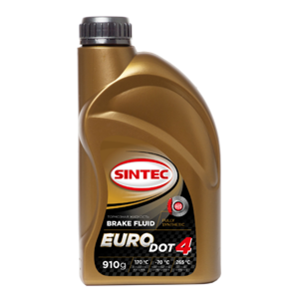 Тормозная жидкость SINTEC EURO DOT-4 tk 265оС, 0, 91л