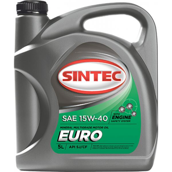 Масло ДВС 15W-40 SINTEC EURO SJ/CF,   5л, минерал