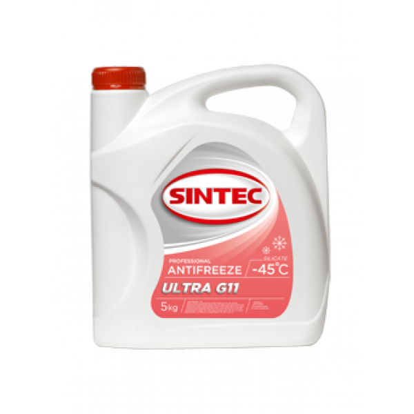 Антифриз SINTEC ULTRA G11, (-45),   5л, красн